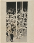 "1955 FIRST GENERATION SANDY AMOROS ""THE CATCH""  WORLD SERIES UPI WIRE PHOTO ICONIC SHOT"