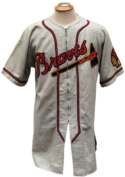 1950 BILLY SOUTHWORTH BOSTON BRAVES GAME USED JERSEY