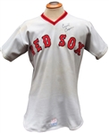 1975 CECIL COOPER SIGNED BOSTON RED SOX GAME USED JERSEY