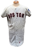 1969 LEE STANGE RARE BOSTON RED SOX GAME USED JERSEY