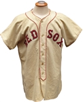 1946 RIP RUSSELL BOSTON RED SOX GAME USED JERSEY