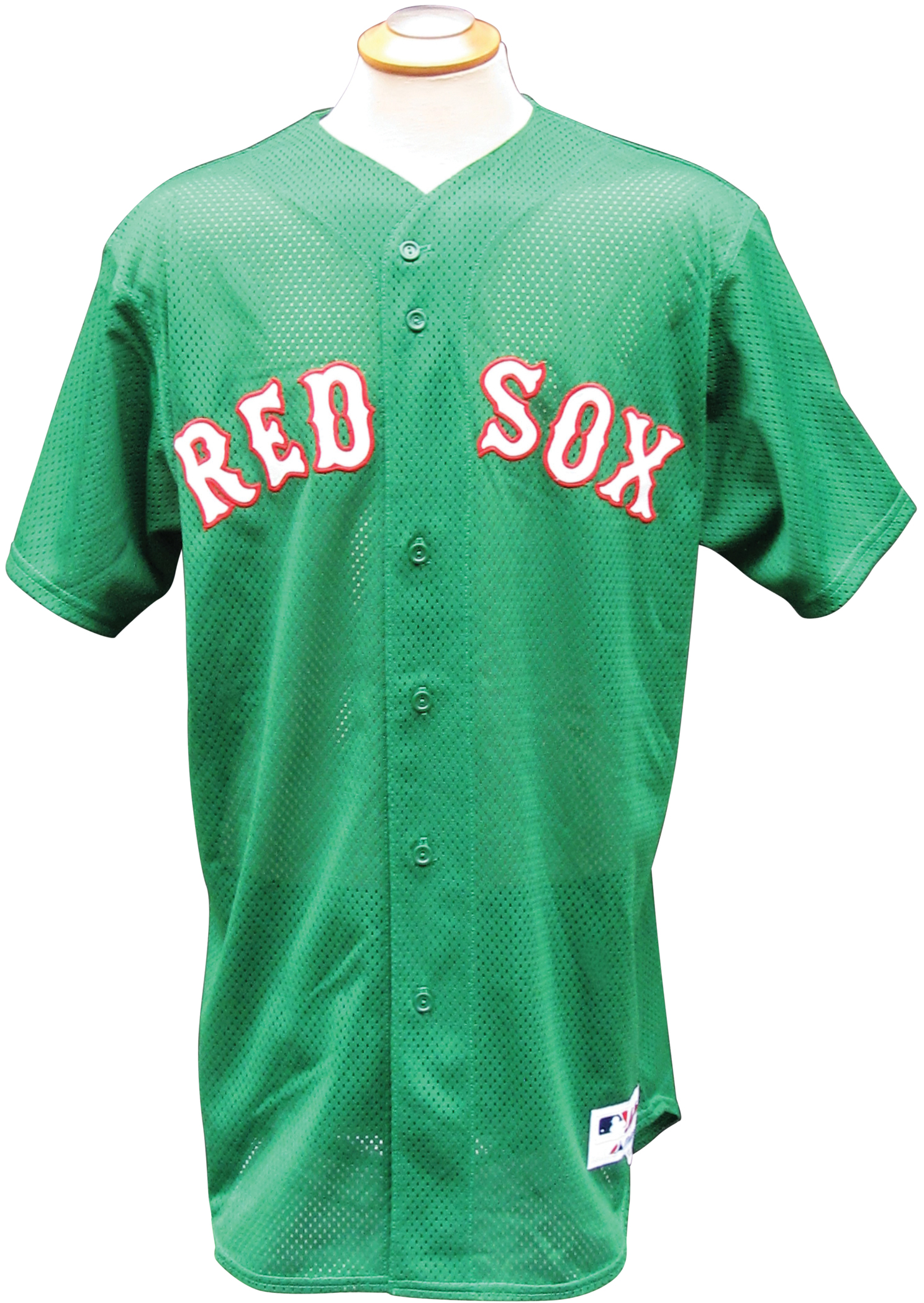 db1f605484a ... 2007 TIM WAKEFIELD BOSTON RED SOX ST. PATRICKS DAY GAME USED JERSEY ...