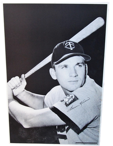 RARE HARMON KILLEBREW SIGNED POSTER
