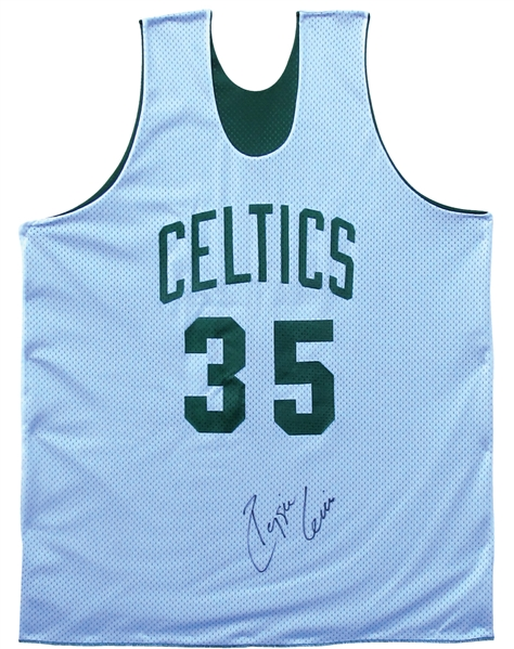 REGGIE LEWIS SIGNED BOSTON CELTICS PRACTICE JERSEY