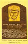 JOE McCARTHY SIGNED HALL OF FAME PLAQUE
