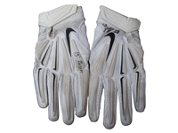 2015 ROB GRONKOWSKI SIGNED RAVENS PLAYOFF GAME USED GLOVES