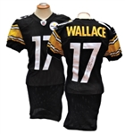2011 MIKE WALLACE PITTSBURGH STEELERS SIGNED GAME USED 2 TD JERSEY WALLACE LOA