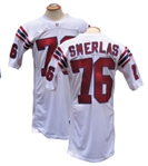 1991 FRED SMERLAS NEW ENGLAND PATRIOTS GAME USED JERSEY TEAM LOA