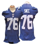 2009 CHRIS SNEE NEW YORK GIANTS GAME USED JERSEY