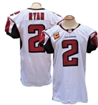 2014 MATT RYAN ATLANTA FALCONS GAME USED TD JERSEY TEAM LOA AND RGU PHOTO MATCH LOA