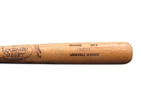 "1986 ROOKIE WILL ""THE THRILL"" CLARK SIGNED GAME USED BAT"