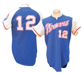 1974 DUSTY BAKER ATLANTA BRAVES GAME USED JERSEY