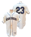SEPTEMBER 10, 2017 NELSON CRUZ SIGNED SEATTLE MARINERS THROWBACK GAME USED JERSEY