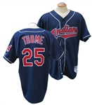 1998 JIM THOME CLEVELAND INDIANS GAME USED JERSEY