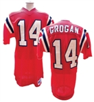 CIRCA 1985 STEVE GROGAN NEW ENGLAND PATRIOTS GAME USED JERSEY