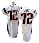 2001 MATT LIGHT NEW ENGLAND PATRIOTS GAME USED JERSEY