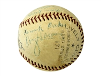 "FRANK ""HOME RUN"" BAKER & BY SAAM MULTI-SIGNED 1950's BASEBALL"