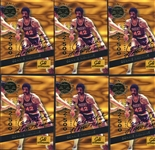 LOT OF FIFTY (50) 1994 SIGNATURE ROOKIES GOLD STANDARD CONNIE HAWKINS SIGNED CARDS