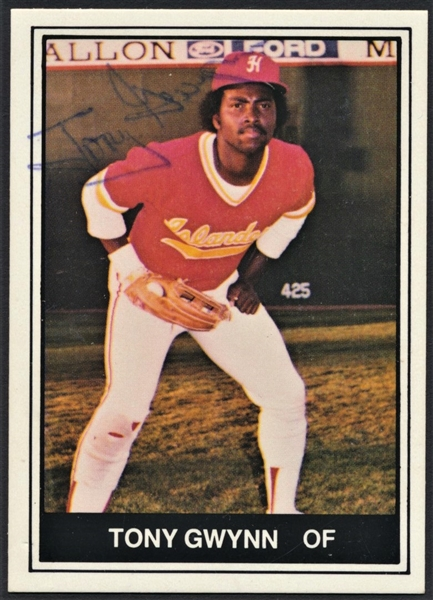 1982 HAWAII ISLANDERS W/ TONY GWYNN SIGNED MINOR LEAGUE COMPLETE SET (25)