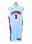 2004-2005 BEN WALLACE DETRIOT PISTONS GAME USED FINALS JERSEY, SHORTS AND REGUAR SEASON WARM-UP (4)