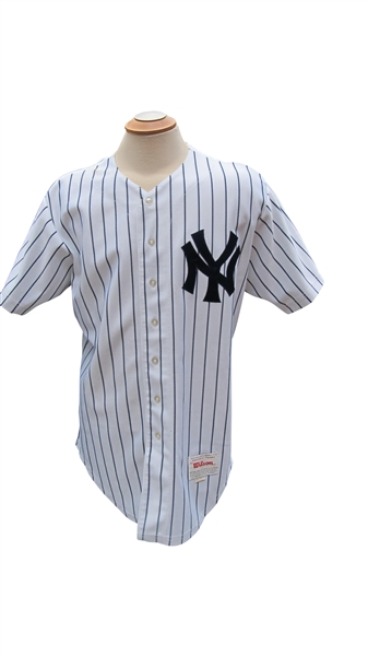 1990 ANDY HAWKINS NEW YORK YANKEES GAME USED JERSEY