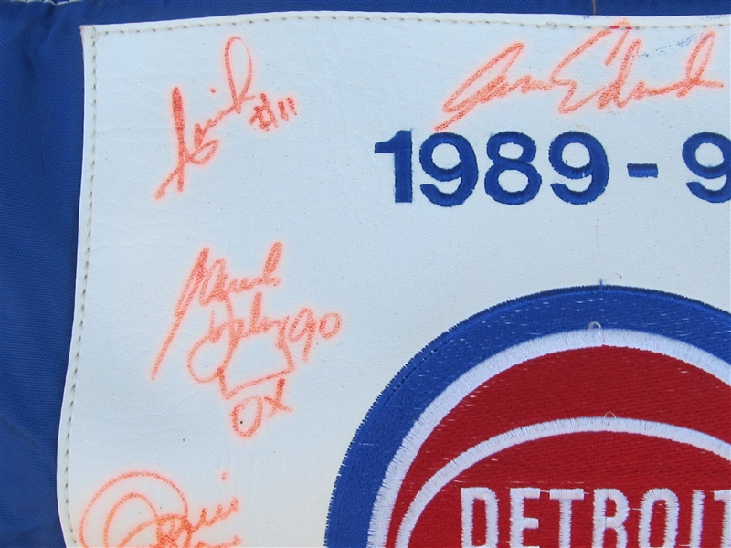 1989-90 DETROIT PISTONS WORLD CHAMPIONS TEAM SIGNED EQUIPMENT BAG
