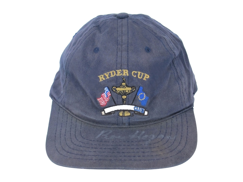 BEN HOGAN SIGNED WORN RIDER CUP HAT