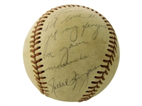 RARE ROLLIE FINGERS PERSONALIZED AND INSCRIBED BASEBALL
