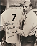 RARE MICKEY MANTLE SIGNED PHOTO WITH RETIRED NO. 7