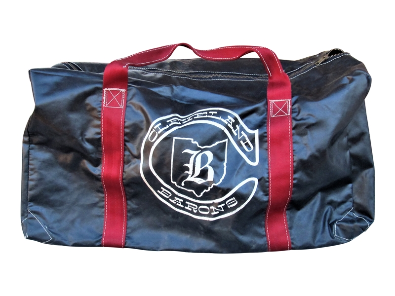 CIRCA 1970 CLEVELAND BARONS EQUIPMENT BAG