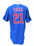 2004 SAMMY SOSA CHICAGO CUBS GAME USED JERSEY