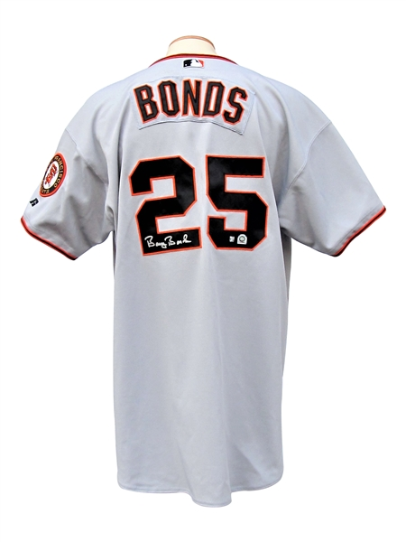 2001 BARRY BONDS SIGNED SAN FRANCISCO GIANTS GAME USED JERSEY