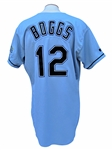 1999 WADE BOGGS SIGNED TAMPA BAY GAME USED JERSEY