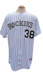 2010 UBALDO JIMENEZ 2010 COLORADO ROCKIES GAME USED JERSEY