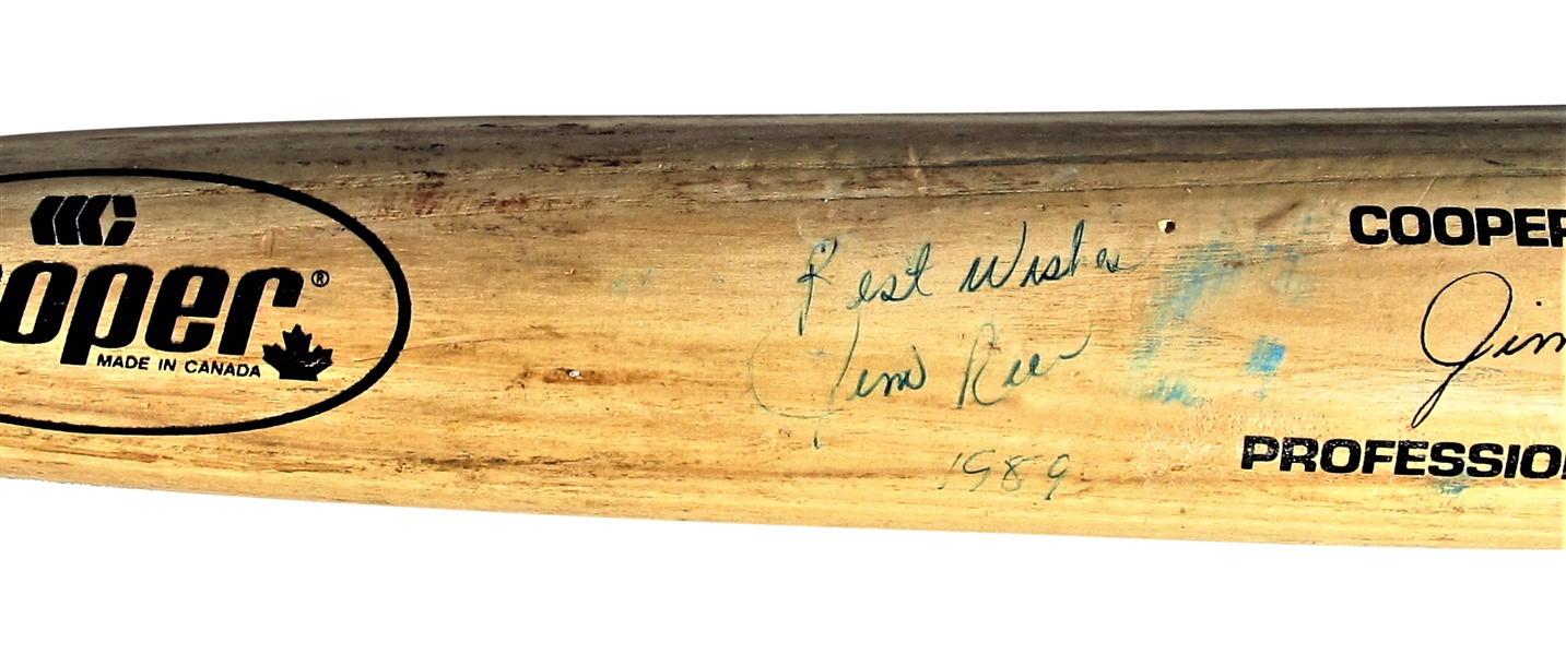 1986/89 JIM RICE SIGNED BOSTON RED SOX GAME USED BAT PSA GU 9.5