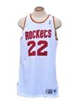 1995 CLYDE DREXLER HOUSTON ROCKETS GAME USED JERSEY