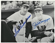 TED WILLIAMS AND JOE DiMAGGIO SIGNED PHOTO