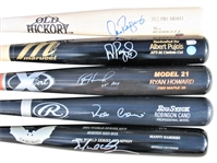 LOT OF 5 SIGNED BASEBALL STAR SIGNED BATS