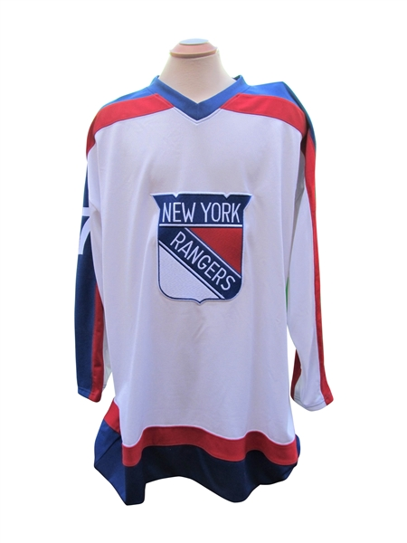 PHIL ESPOSITO AND MARIAN GABORIK SIGNED NEW YORK RANGERS JERSEYS