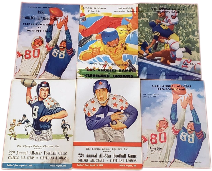 1949-60 NFL, PRO BOWL, & NFL CHAMPIONSHIP PROGRAM COLLECTION (35) – DON COLO COLLECTION