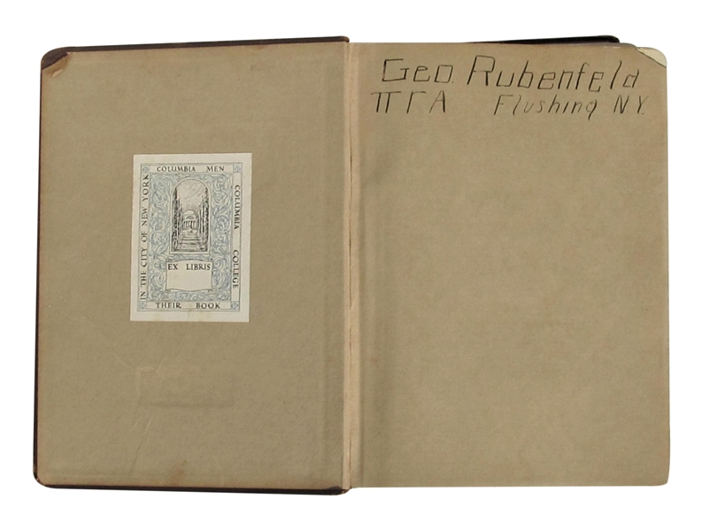 1923 COLUMBIA COLLEGE YEARBOOK WITH LOU GEHRIG