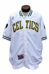 BRIAN SHAW GAME USED WORN 1991 BOSTON CELTICS HOME WARMUP TOP W/ CENTENNIAL PATCH