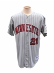 2006 RUBEN SIERRA MINNESOTA TWINS GAME USED JERSEY