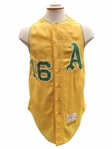 1964 ED CHARLES KANSAS CITY ATHLETICS GAME USED JERSEY