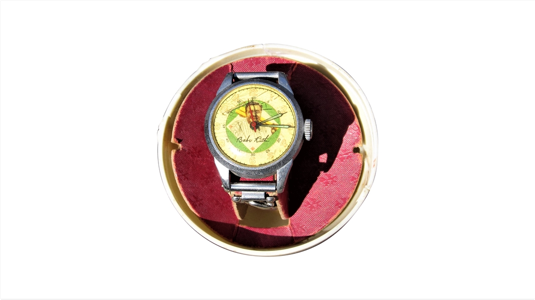 BABE RUTH WATCH WITH BALL HOLDER