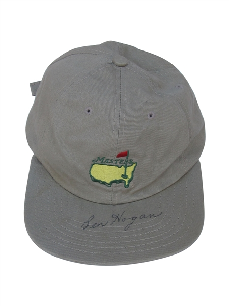 RARE BEN HOGAN SIGNED GAME USED MASTERS HAT