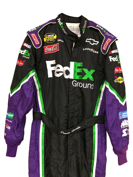 2007 DENNY HAMLIN FEDEX RACE WORN SUIT