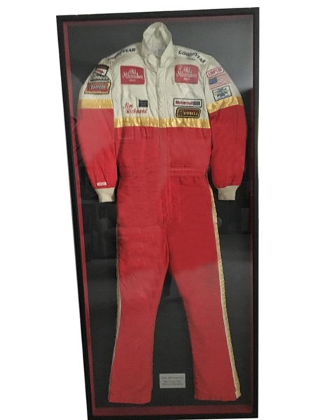 RARE 1983 TIM RICHMOND RACE WORN SUIT FROM FAMILY MEMBER