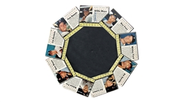 "EXTREMELY RARE 1961 POST CEREAL ""SPINNING WHEEL"" DOUBLE SIDED DISPLAY WITH WILLIE MAYS AUTOGRAPH"