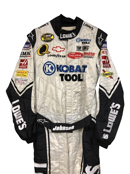 2007 JIMMIE JOHNSON SIGNED KOLBALT RACE WORN SUIT